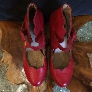 Miz Mooz Shoes - Miz Mooz Red Leather Heels 9